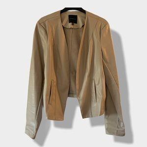 Dynamite Tan Faux Leather Jacket